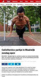 Opening calisthenicspark Tavenu