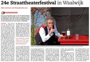 Jongerencentrum De Tavenu: Straattheaterfestival 2019