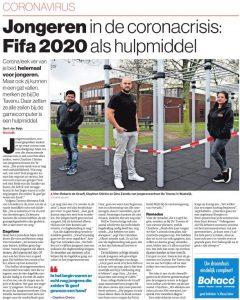 Jongerencentrum De Tavenu: FIFA 2020 tijdens corona